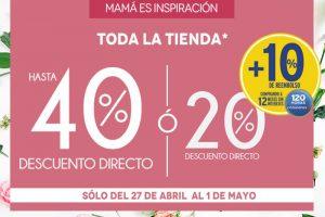 Venta especial para mamá The Home Store del 27 de abril al 1 de mayo