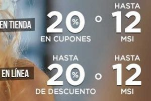 Palacio de Hierro 20% en cupones o 12 msi en relojes y joyería