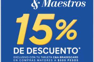 C&A 15% adicional para estudiantes y maestros con tarjeta C&A