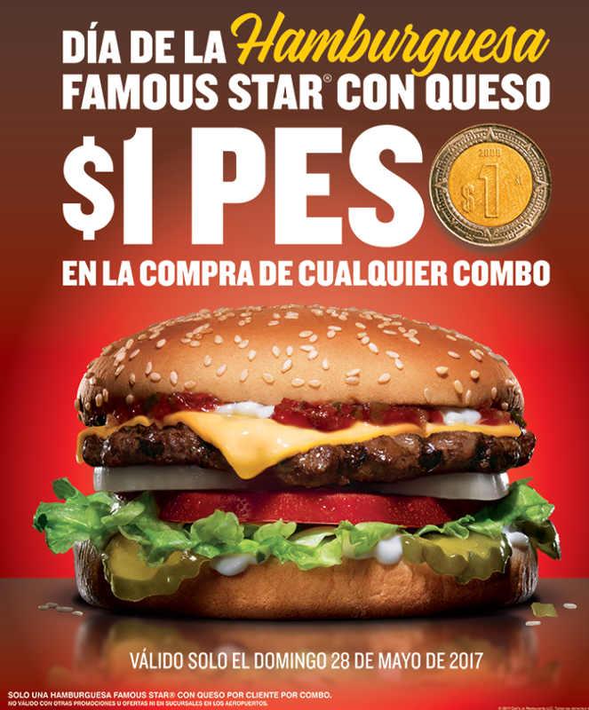 Carl's Jr: hamburguesa a $1 día de la hamburguesa 28 de mayo