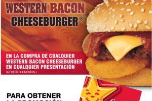 Carl's Jr: western bacon cheeseburger Gratis en la compra de otra