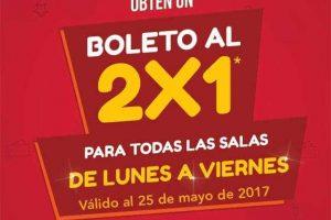 Cinemex 2×1 en todas las salas de lunes a viernes con Payback