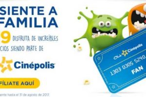 Cinépolis Tarjeta Club Cinépolis a $19 pesos