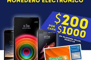 Comercial Mexicana $200 de bonificación en celulares LG Telcel