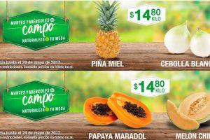 Comercial Mexicana frutas y verduras del campo 23 y 24 de mayo 2017