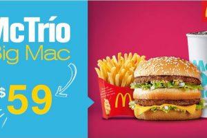 Cupón McDonald's McTrío Big Mac a sólo $59 pesos