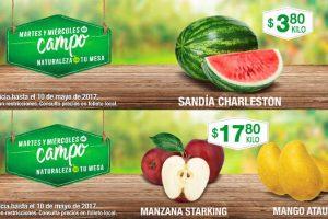 Comercial Mexicana frutas y verduras del campo 9 y 10 de mayo 2017