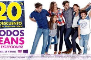Jeansmanía Suburbia 20% de descuento en todos los jeans
