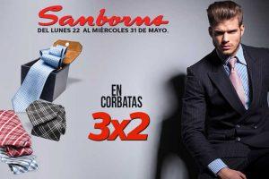 Sanborns 3×2 en corbatas, playeras y camisas del 22 al 31 de Mayo