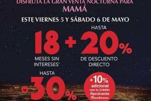 Venta Nocturna Sanborns 5 y 6 de mayo de 2017