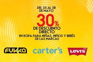 Sears 30% de descuento en ropa bebés y niños del 25 al 28 de mayo