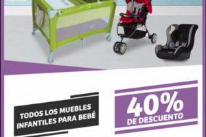 Soriana Mercado 40% de descuento en muebles infantiles, toallas y almohadas