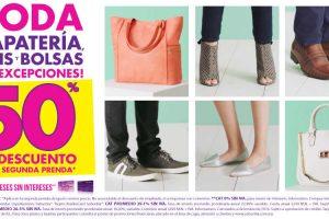 Suburbia 50% de descuento en segunda prenda de zapatos, tenis y bolsas