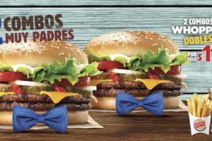Burger King 2 combos Whopper dobles por sólo $170