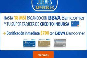 Jueves Imperdible Walmart $700 de descuento con BBVA Bancomer