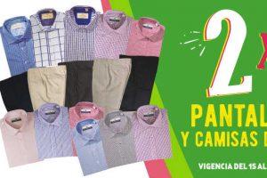 Julio Regalado 2017 2×1 en pantalones y camisas del 15 al 18 de Junio