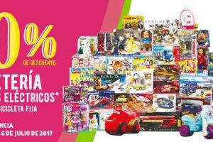 Julio Regalado 2017 40% de descuento en juguetes y montables