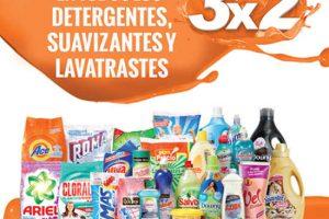 La Comer Temporada Naranja 3×2 en detergentes, suavizantes y lavatrastes