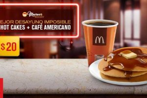 Martes de McDonald's 3 Hotcakes y Café Americano por $20