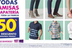 Suburbia 50% de descuento en camisas y calzado para toda la familia