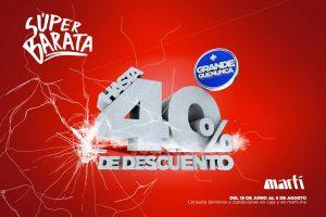 Super Barata Deportiva Martí del 19 de junio al 6 de agosto 2017