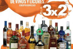 Temporada Naranja La Comer 3x2 en todos los vinos y licores