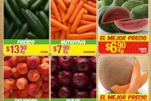 Bodega Aurrera Frutas y Verduras Tiánguis de Mamá Lucha del 14 al 20 de Julio