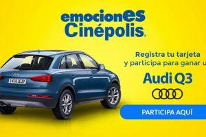 Emociones Cinépolis 2017: 4 entradas al 2x1 y Gana un Auto Audi Q3