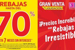 Gran Venta de Liquidación Suburbia Hasta 70% de Descuento