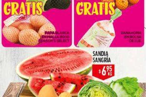 HEB folleto de frutas y verduras del 11 al 13 de Julio 2017