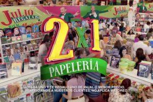 Julio Regalado 2017 2×1 en Toda la Papelería del 7 al 10 de Julio
