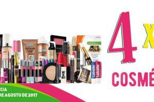 Julio Regalado 2017 4×2 en todos los cosméticos