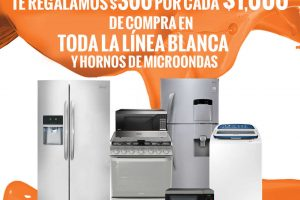 Temporada Naranja La Comer $300 de descuento por cada $1,000 en Línea Blanca y Hornos de Microondas