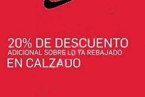 Nike Factory Store 20% de descuento adicional a lo ya rebajado al 6 de agosto