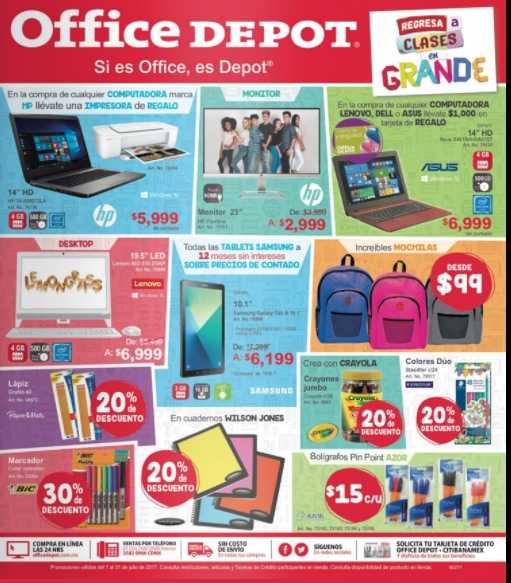 Office depot catalogo de ofertas del 1 al 31 de julio 2017 for Muebles para computadora office depot