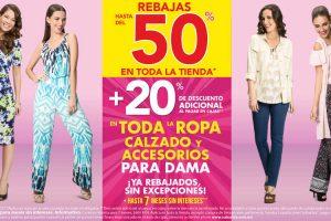Suburbia Hasta 50% de descuento + 20% adicional en ropa calzado y accesorios para dama