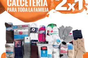Temporada Naranja La Comer 2×1 en calcetería el 12 al 19 de julio 2017