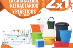 Temporada Naranja La Comer 2×1 en Cristalería, Refractarios y Plásticos