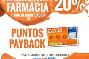 Temporada Naranja La Comer 20% de bonificación en farmacia del 3 al 10 de Julio