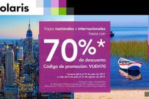 Volaris 70% de descuento en vuelos nacionales e internacionales del 6 al 10 de Julio