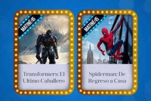 Cinépolis boletos a $15 Funciones Matiné de Transformers o Spiderman