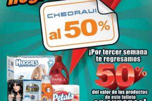 Folleto Chedraui al 50% del 11 al 13 de Agosto 2017