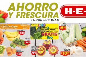 HEB folleto de frutas y verduras del 1 al 3 de Julio 2017