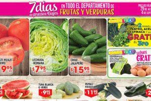 HEB folleto de frutas y verduras 29 de agosto al 4 de septiembre