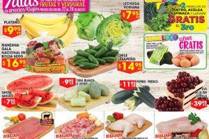 HEB Folleto de Frutas y Verduras del 22 al 24 de Agosto 2017
