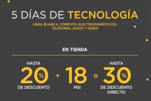 Palacio de Hierro 5 Días de Tecnología del 24 al 28 de agosto 2017