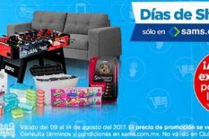 Sams Club Días de Shopping Online del 9 al 14 de agosto