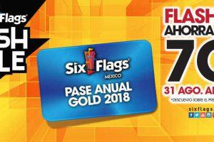 Six Flags 70% de descuento en Pase anual GOLD 2018