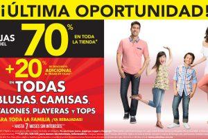 Suburbia 70% de descuento + 20% adicional en blusas, camisas, playeras y tops