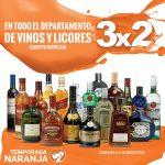 Temporada Naranja La comer 3×2 en vinos y licores del 4 al 7 de agosto